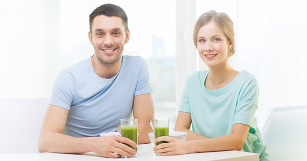 Couple with juice